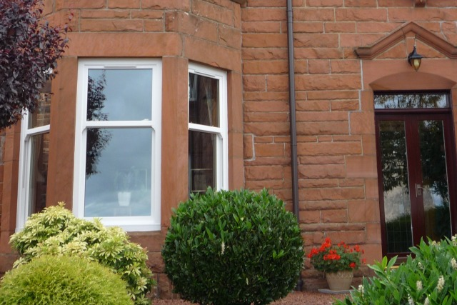 glasgow pvc sash window